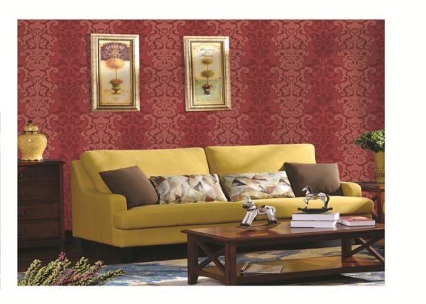 Quality PVC vinyl wallpaper washable waterproof simple design different color for sale