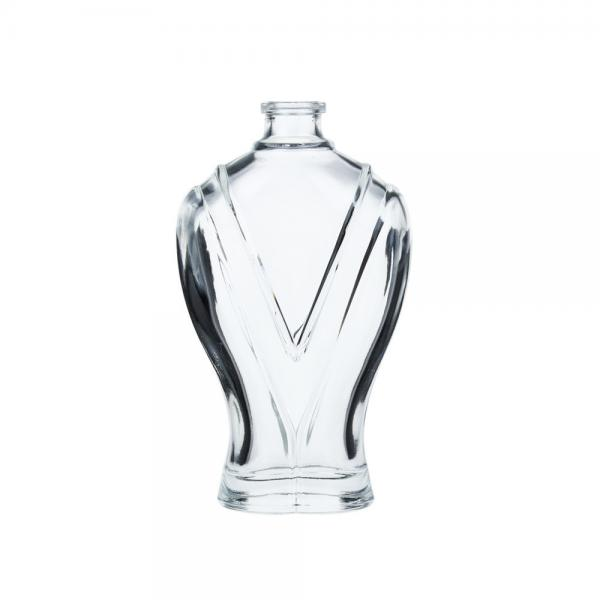 Quality Special Design Clear Glass Perfume Bottles Crimp Neck With Ball Shape Body for sale