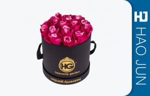 Handmade Cylindrical Cardboard Flower Boxes Biodegradable With CMYK / Pantone Color