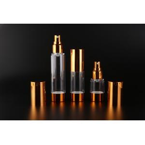UKMS17 15ml-30ml-50ml UKPACK Acceptable AS Custom cosmetic Gold alumina vacuum bottle