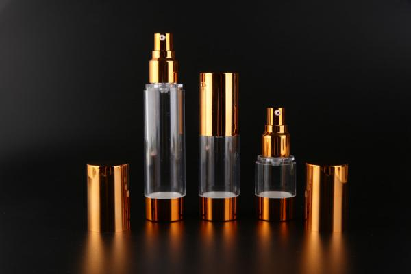 Quality UKMS17 15ml-30ml-50ml UKPACK Acceptable AS Custom cosmetic Gold alumina vacuum bottle for sale