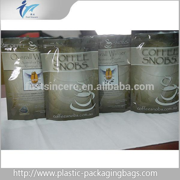 Quality Stand UP Printed Aluminum Foil Ziplock Bag For Coffee Packaging for sale