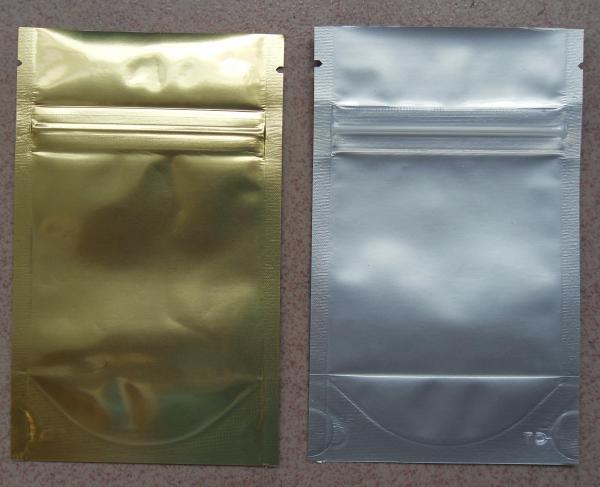 Quality Aluminum Foil Zip Lock Bag Plastic Seeds Packaging , Golden / Silver for sale